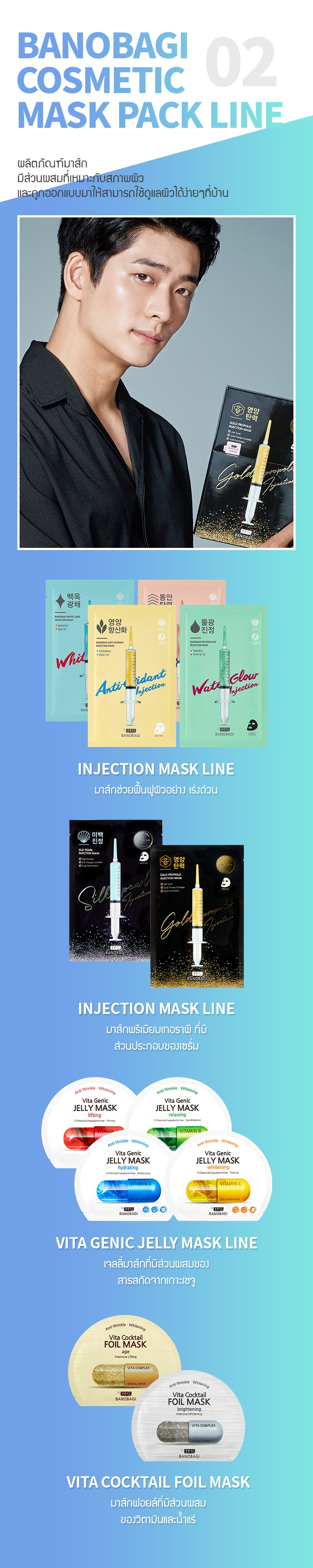 02 Banobagi Cosmetic Mask PACK line